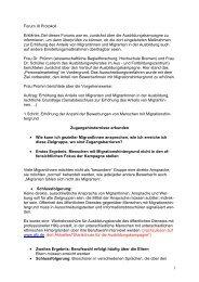 1 Forum III Protokoll Erklärtes Ziel dieses Forums war es ...