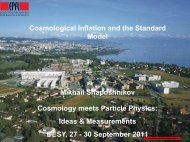 Cosmological Inflation and the Standard Model Mikhail ...