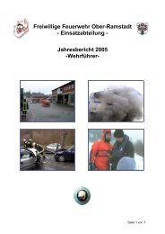 Jahresbericht 2005 -Wehrführer - Freiwillige Feuerwehr Ober ...