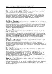 Film-Liste - Im Fall