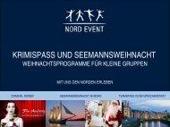 Weihnachtsprogramme für Kleingruppen (PDF) - Hamburg Locations