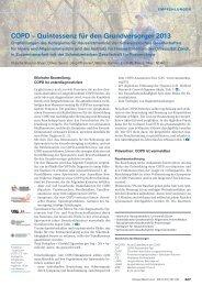 COPD – Quintessenz für den Grundversorger 2013 - Swiss Medical Forum