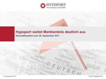 Präsentation Q3 2011 - Hypoport AG