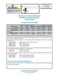 Monatsbericht über die Marktlage bei Milch und ... - Swissmilk