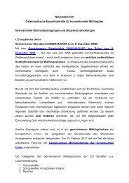 Nationalbericht Österreichische Exportkontrolle für ... - SIPRI