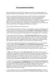 Das Feministische Manifest von Erika Riemer-Noltenius
