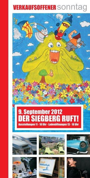 Siegberg Broschüre - Siegen inspiriert