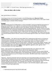 Newsletter 17.11.2008 - Fonds Finanz Maklerservice GmbH
