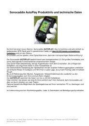 Sonocaddie AutoPlay Produktinfo und technische Daten