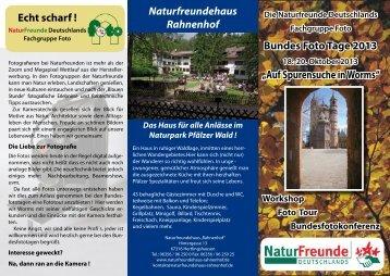Bundesfototage - bei den NaturFreunden in Frankenthal