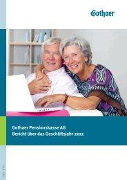 Gothaer Pensionskasse 2012 Umschlag - Gothaer Versicherungen