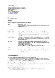 Vollständiger Lebenslauf auf einen Blick - IZW - Institut für Zoo- und ...