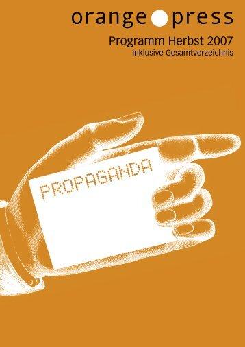 Propaganda - Orange Press