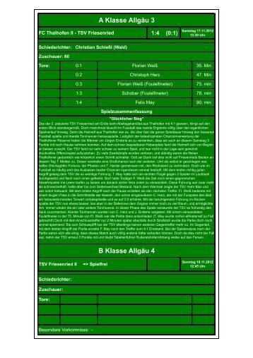14. FC Thalhofen II - TSV Friesenried 1
