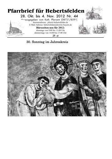 Pfarrbrief für Hebertsfelden - Pfarrei Hebertsfelden