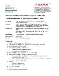 Protokoll der Mitgliederversammlung vom 3. Mai 2013 ... - Interpret