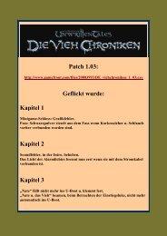 Patch 1.03: Geflickt wurde: Kapitel 1 Kapitel 2 Kapitel 3 - Gamepad.de
