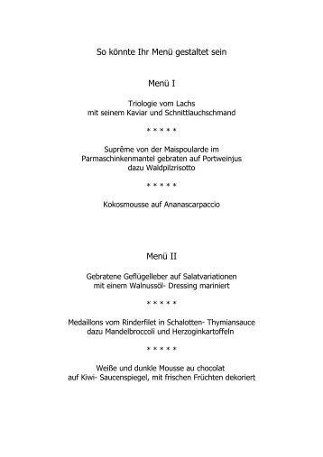 So könnte Ihr Menü gestaltet sein (PDF) - Gasthof zur Post