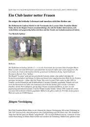 Ein Club lauter netter Frauen - Lyceum Club Frankfurt Rhein-Main