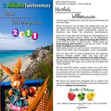 Osterprogramm 2011 - Aldiana Fuerteventura