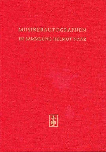 MUSIKERAUTOGRAPHEN IN SAMMLUNG