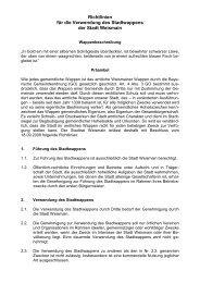 Richtlinien für die Verwendung des Stadtwappens der Stadt Weismain