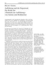Aufklärung und die Gegenwart. Zur Kritik der »Dialektik der ...