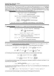 Datenblatt Abitur > Analysis > Ableitungen, Ableitungsregeln