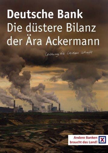 Dossier: Deutsche Bank - Die düstere Bilanz der Ära Ackermann