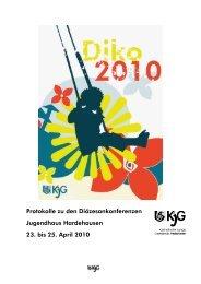 Protokoll Diözesankonferenz 2010 - KJG Diözesanverband Paderborn