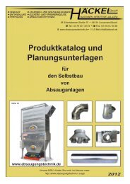 Produktkatalog und Planungsunterlagen für den ... - Häckel Gmbh