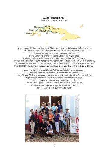 "Cuba Tradicional"" - MG Skandinavien Reisen"