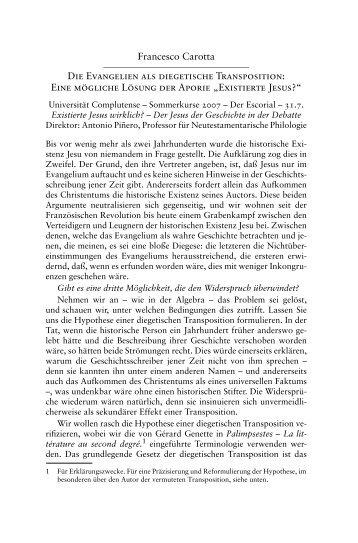 diegetische Transposition - carotta.de