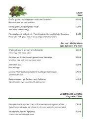 Salate Eier und Mehlspeisen Vegetarische Gerichte