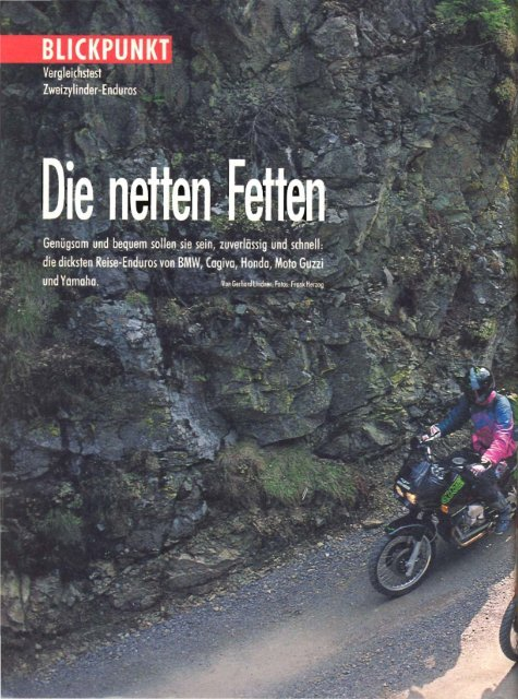 """Originalartikel """"Zweizylinder-Enduros"""" aus ... - Motorrad online"""