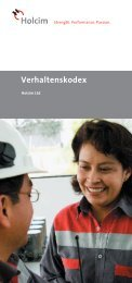 Corporate Code of Conduct/ Verhaltenskodex - Holcim