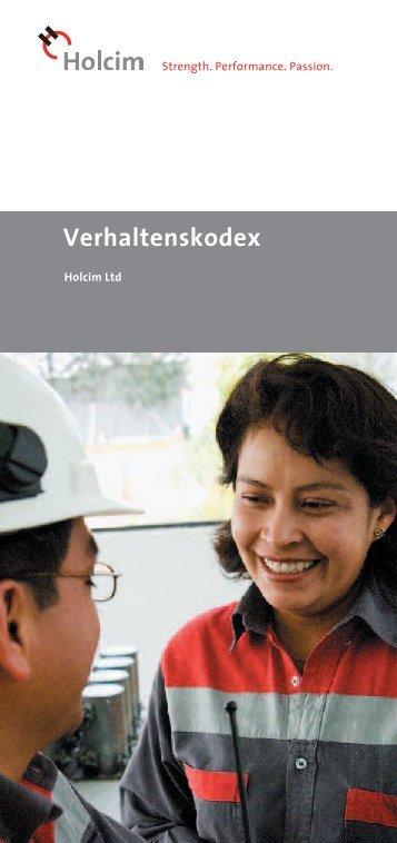 Corporate Code of Conduct/ Verhaltenskodex - Holcim
