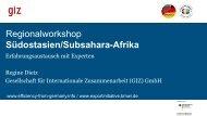 Marktchancen für deutsche Unternehmen in Südostasien - GIZ