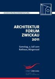 architekturforum zwickau 2011 - Stadt Zwickau