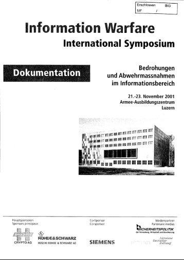lnternational Symposium - admin.ch