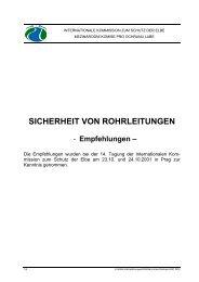 Sicherheit von Rohrleitungen - bei der Internationalen Kommission ...