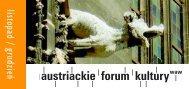 program Listopad - Grudzień 2007 - Austriackie Forum Kultury