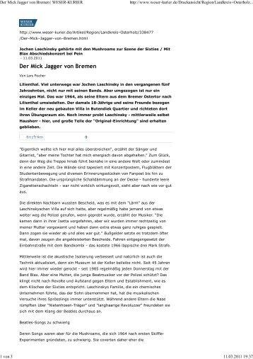 Der Mick Jagger von Bremen - BLAX