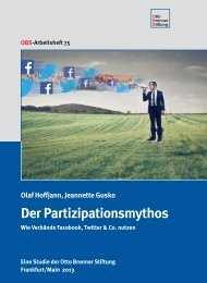 Der Partizipationsmythos - Otto Brenner Shop
