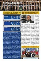 News aus Europa: 25. April 2012 - Dr. Thomas Ulmer MdEP