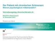 Der Patient mit chronischen Schmerzen - chronischkrank.ch