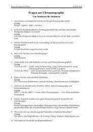 Fragen zur Chromatographie