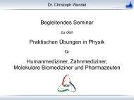 Seminar 1 - Mpraktikum.hiskp.uni-bonn.de