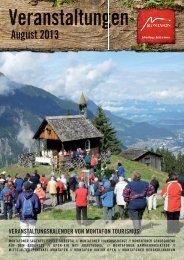 Veranstaltungen August 2013 - Landhaus Rudigier
