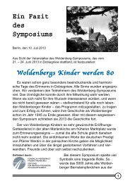 Ein Fazit des Symposiums - Dobiegniew / Woldenberg